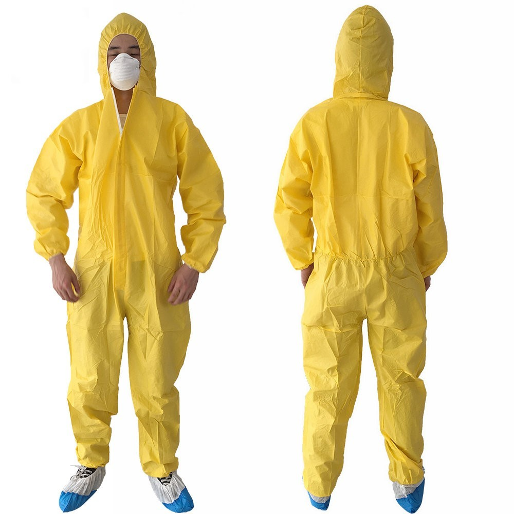 Disposable waterproof coveralls type 5 & 6