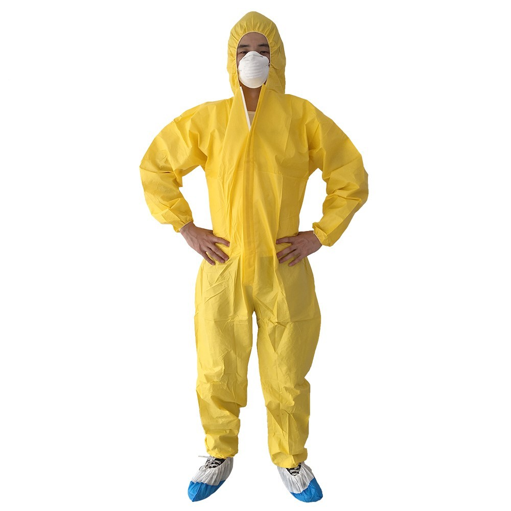 Full Body Safety Disposable Coverall  gloves305