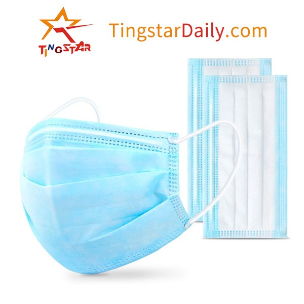 Personal  Disposable Face shield Wholesale 3 Layers Face mask