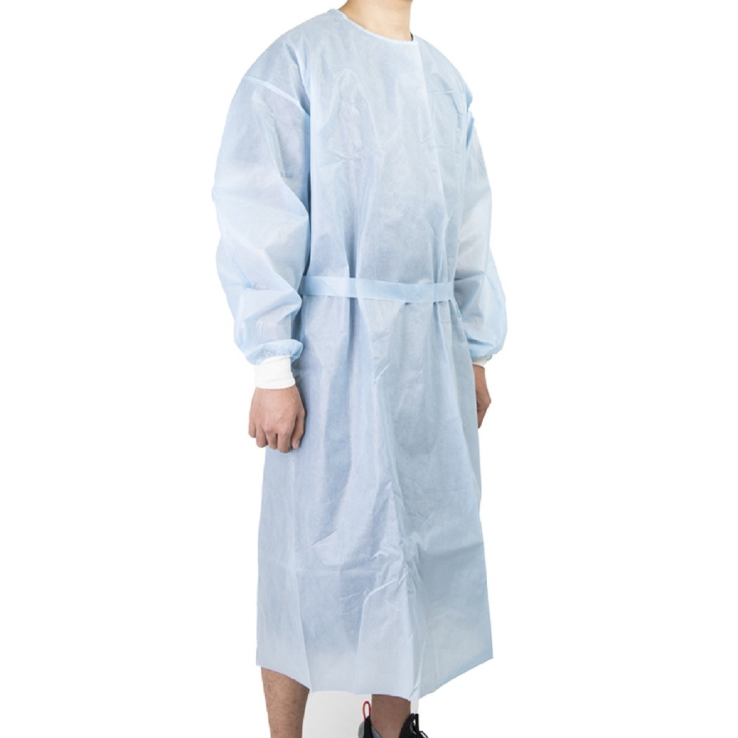CE Certified best medical disposable plastic isolation gowns