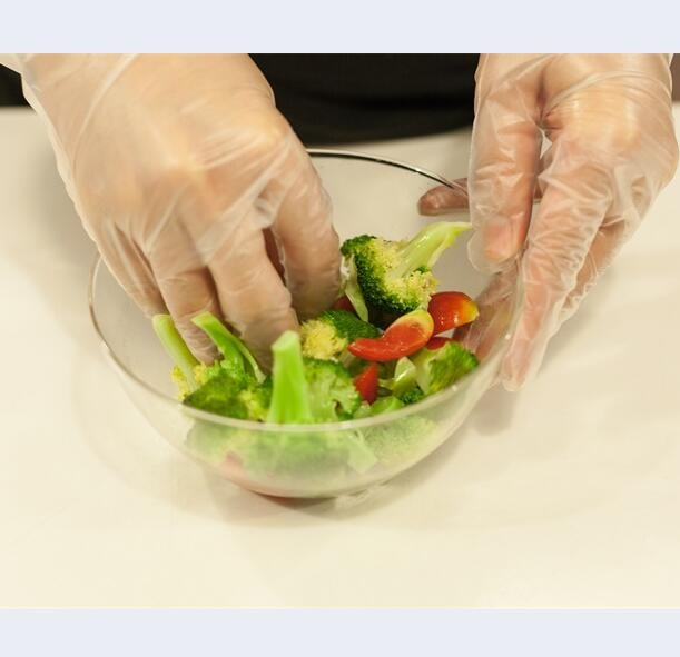 Supply Plastic Food Safe Disposable tpe gloves for household cleaning use
